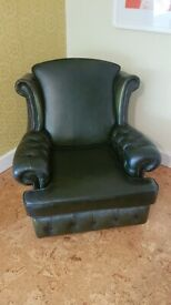 Green Chesterfield style Chair - Blessed by monks