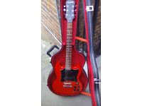 epiphone sg electric guitar and hardcase