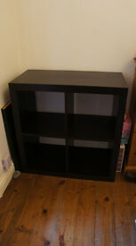 Black Ikea 2x2 book shelves