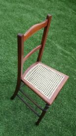 Edwardian chair, re-caned