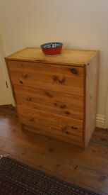 Small 3 drawers pine chest from Ikea