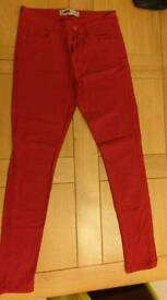 Red new look jeans - Size 14