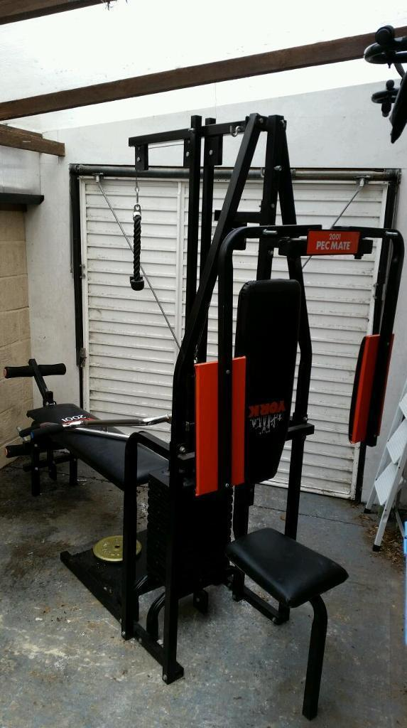 Multi gym york with pec mate in poole dorset gumtree