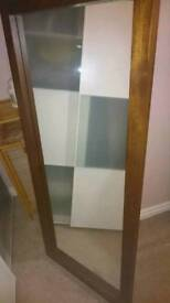 Full length mirror wooden frame great condition