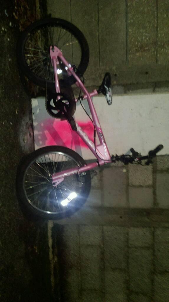 Pink kids bmx