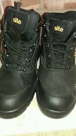 Site Black Work Boots UK 11 new