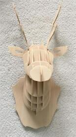 Wooden decorative stags head