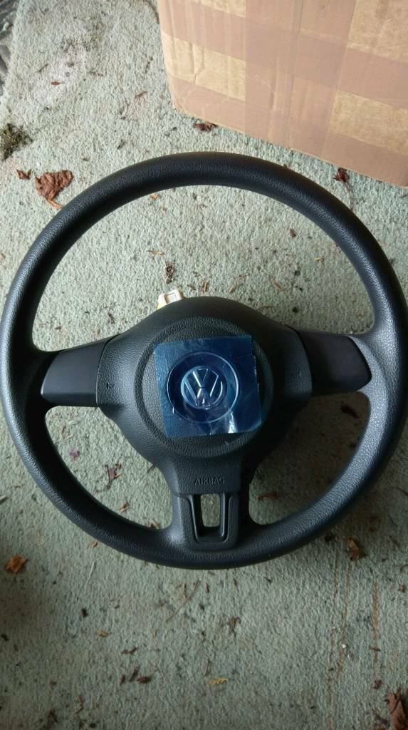 VW Golf Mk6/Caddy/Polo steering wheel with airbag.