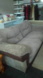 Fawn Brown Sofa With Deep Seats, Super Comfortable