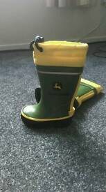 Childs John deere wellies