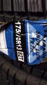185$ pour 4 pneus hiver NEUFS 175-70-R13 TRANGIL TIRE NEW