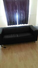 IKEA leather sofa for sale