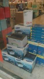 Samsung laser printer. Staples price £79. My price £40