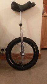 "Unicycle street/trials 20"" - nearly new condition - creepy cralwer maxxis tyre"