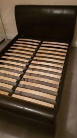 Silentnight sleigh bed & memory foam mattress