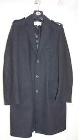 Reiss mens black trench coat