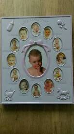 """Baby girl """"My First Year"""" photo frame"""
