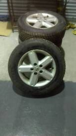 Alloy wheels with as new tyres