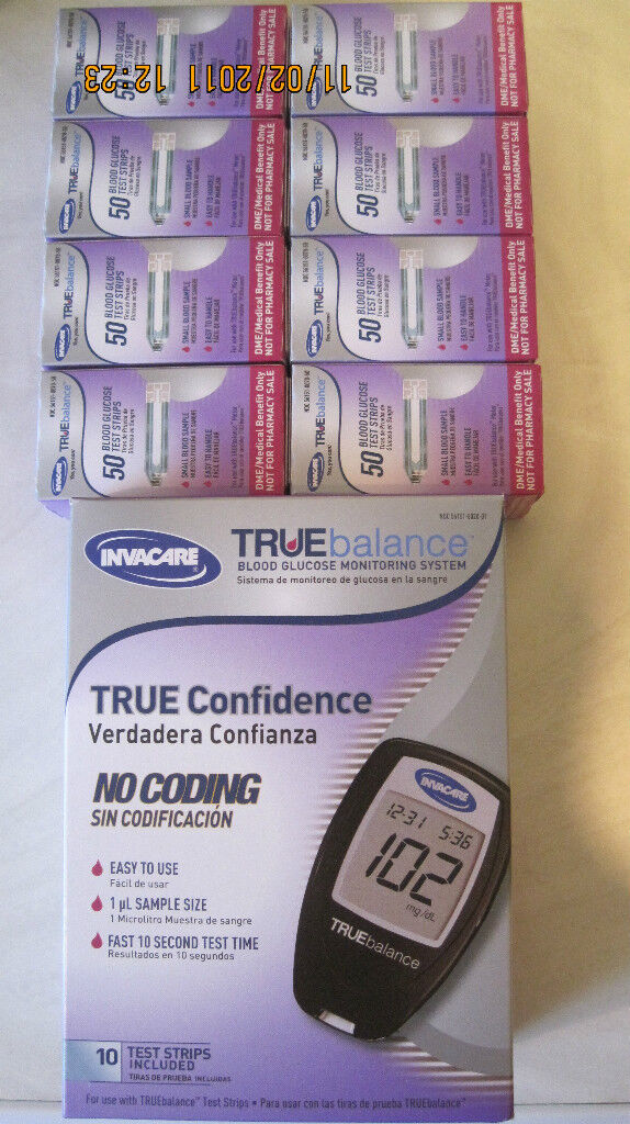 Truebalance Blood Glucose (400) Test Strips Free Meter Kit No Coding