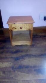 2 x Solid pine bedside cabinets