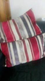 Two lovely striped cushions