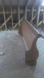 Oak sleigh bed end