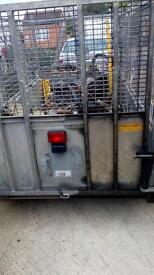 ifor williams 4wheeler 8x4 caged sides hiab connected on front can be lifted of when not needed