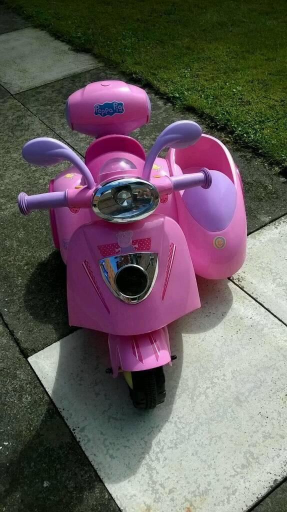 Peppa pig bike and side car