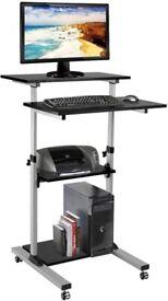 Compact standing desk black