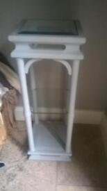 Light grey painted plant/ lamp stand