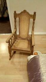 Child's solid wood rocking chair