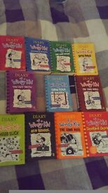 Diary of a wimpy kid book set x 11