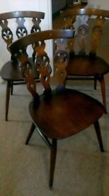 6 authentic Ercol chairs