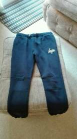 Hype trackie bottoms dark blue age 13