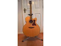 Tanglewood TW155 ST Kinsman Case Super Jumbo Folk Acoustic Guitar Electro B Band