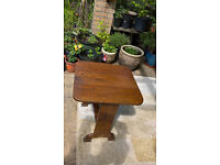 Vintage Solid Oak Extendable Card Playing Table