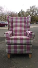 New and Packaged - Wing Chair - Colours Available - BRITISH MADE