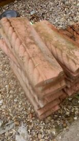 garden edgings red 20 of 18in x 6in free to b collected from shirland second hand