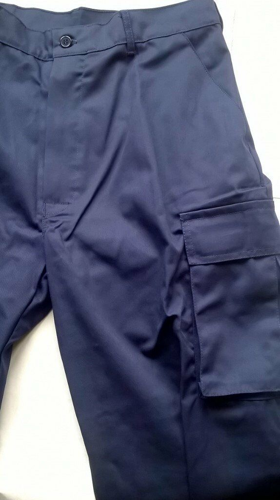 Navy Combat Cargo Work Pants 32ins Waist 31ins Inside Leg, Brand New in bag with Tags