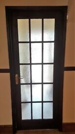 Internal mahogany and white coloured door