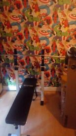 Bench press and punch bag with stand