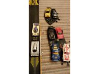 Scalextric track with 8 cars