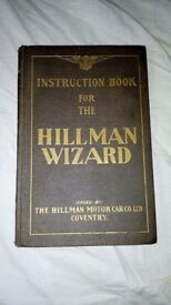 Hillman wizard 1931 instruction manual