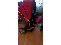 Stroller pram B-SMART 3 wheel type RED COST £175 ...............