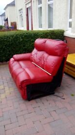 Red Leather Recliner Sofa ****FREE****