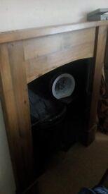 wooden fire surround
