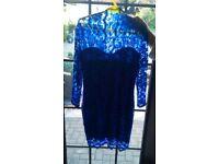 Jane Norman Blue Lace Dress size 12