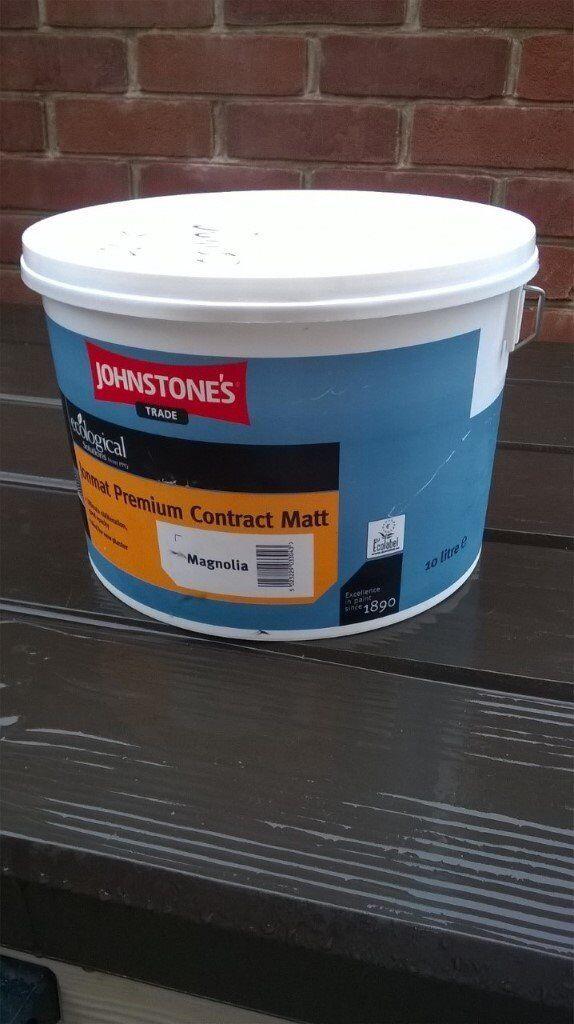 New and unused Johnstones 10litres ecological premium matt paint in Magnolia. On Ebay for £39.50