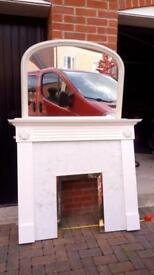 Mirror , fire surround