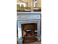 Old cast iron fireplaces with original tiles
